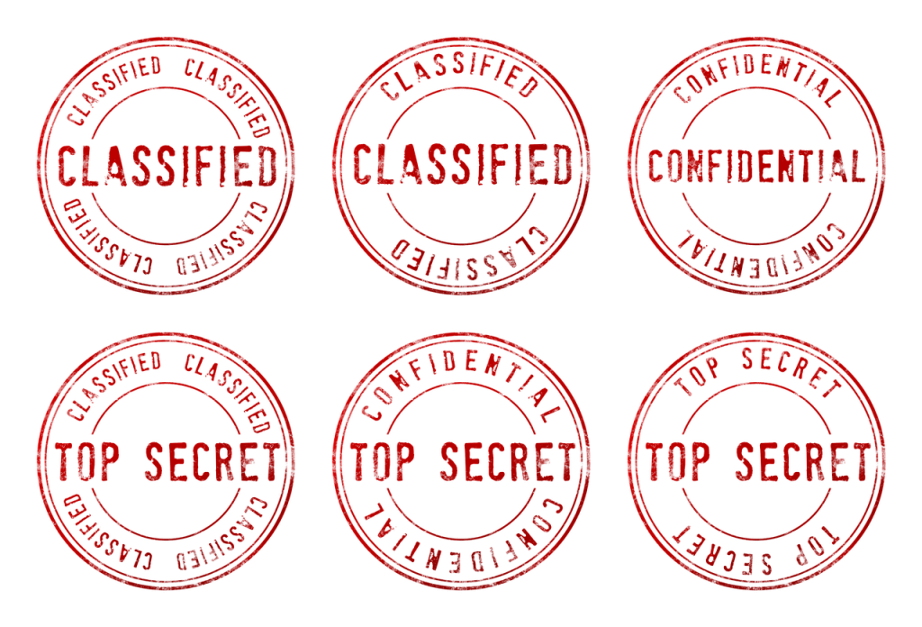 top secret, confidential, classified