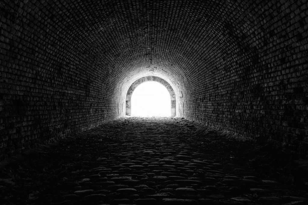 tunnel, light, hope
